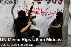UN Memo Rips US on Mideast