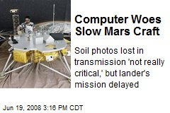 Computer Woes Slow Mars Craft