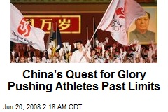 China's Quest for Glory Pushing Athletes Past Limits