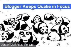 Blogger Keeps Quake in Focus