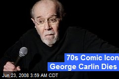 70s Comic Icon George Carlin Dies
