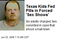 Texas Kids Fed Pills in Forced 'Sex Shows'