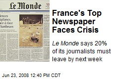 France's Top Newspaper Faces Crisis