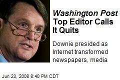Washington Post Top Editor Calls It Quits