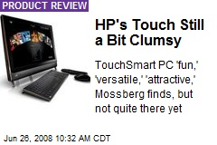 HP's Touch Still a Bit Clumsy
