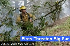 Fires Threaten Big Sur