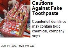 Colgate Cautions Against Fake Toothpaste