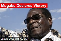Mugabe Declares Victory