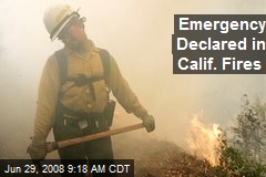 Emergency Declared in Calif. Fires
