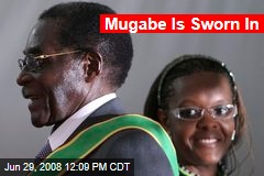 Mugabe Is Sworn In