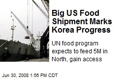 Big US Food Shipment Marks Korea Progress