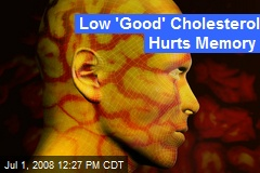 Low 'Good' Cholesterol Hurts Memory