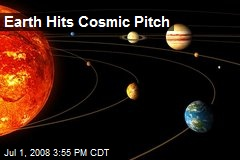 Earth Hits Cosmic Pitch