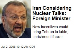 Iran Considering Nuclear Talks: Foreign Minister