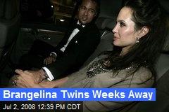 Brangelina Twins Weeks Away