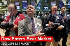 Dow Enters Bear Market