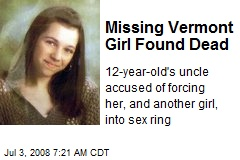 Missing Vermont Girl Found Dead