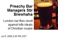 Preachy Bar Managers Stir Brewhaha