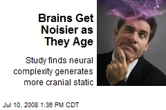 Brains Get Noisier as They Age