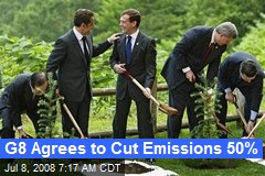 G8 Agrees to Cut Emissions 50%