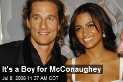 It's a Boy for McConaughey