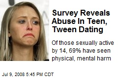 Survey Reveals Abuse In Teen, Tween Dating