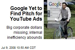 Google Yet to Find Pitch for YouTube Ads