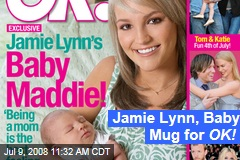 Jamie Lynn, Baby Mug for OK!
