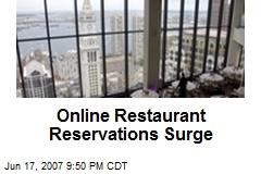 Online Restaurant Reservations Surge