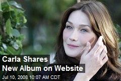 Carla Shares New Album on Website