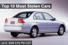 Top 10 Most Stolen Cars