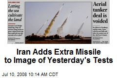Iran Adds Extra Missile to Image of Yesterday's Tests