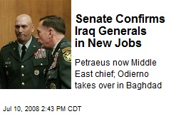 Senate Confirms Iraq Generals in New Jobs