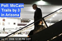 Poll: McCain Trails by 3 in Arizona