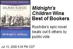 Midnight's Children Wins Best of Bookers