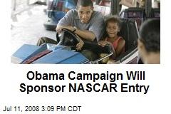 Obama Campaign Will Sponsor NASCAR Entry