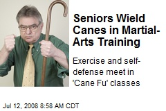 Seniors Wield Canes in Martial- Arts Training