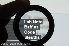 Lab Note   Baffles   Code   Sleuths