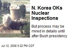 N. Korea OKs Nuclear Inspections