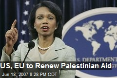 US, EU to Renew Palestinian Aid