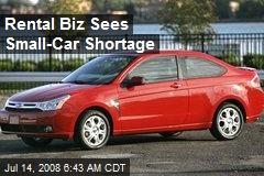 Rental Biz Sees Small-Car Shortage