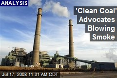 'Clean Coal' Advocates Blowing Smoke