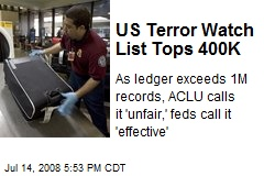 US Terror Watch List Tops 400K