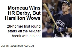 Morneau Wins HR Derby, But Hamilton Wows