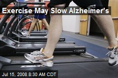 Exercise May Slow Alzheimer's