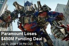 Paramount Loses $450M Funding Deal