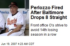 Perlozzo Fired After Baltimore Drops 8 Straight