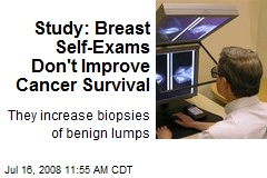 Study: Breast Self-Exams Don't Improve Cancer Survival