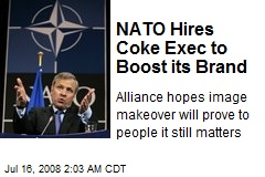 NATO Hires Coke Exec to Boost its Brand