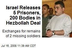Israel Releases 5 Prisoners, 200 Bodies in Hezbollah Deal